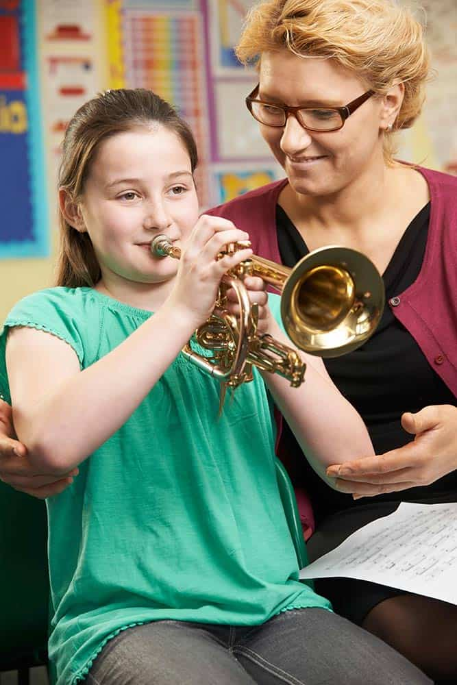 music and Alzheimer's, girl taking music lessons