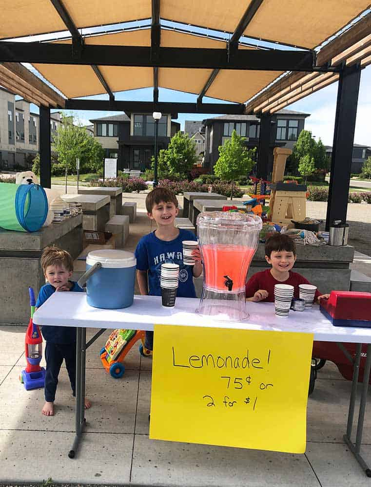 the best lemonade recipe; 3 boys and their lemonade stand