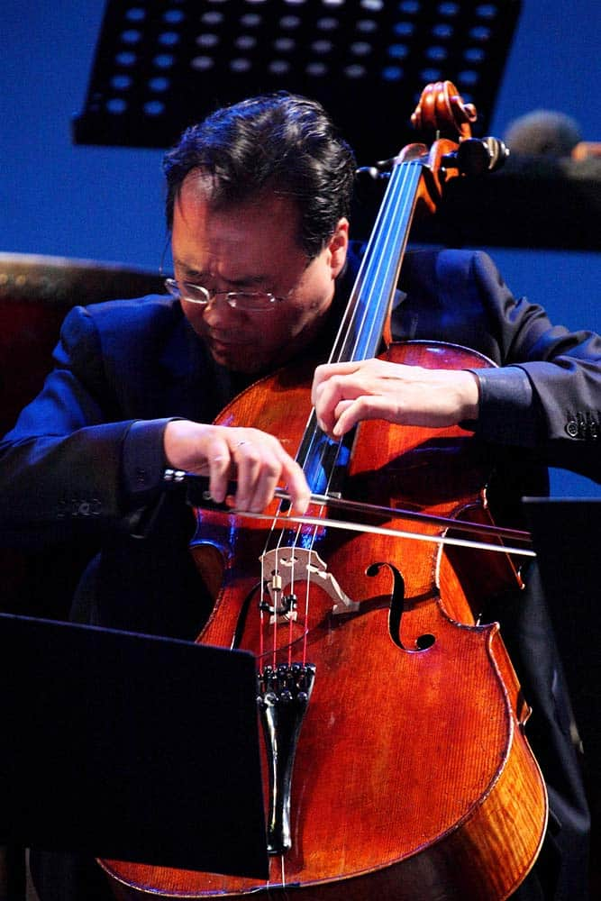 Yo-Yo Ma playing cello