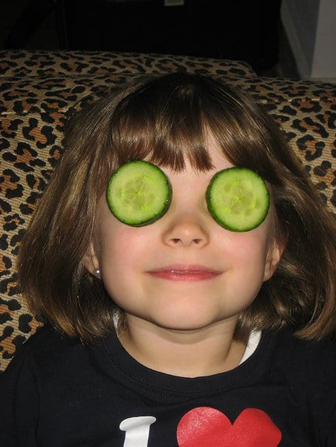 The benefits of cucumbers are many--including reducing the puffiness underneath the eyes.
