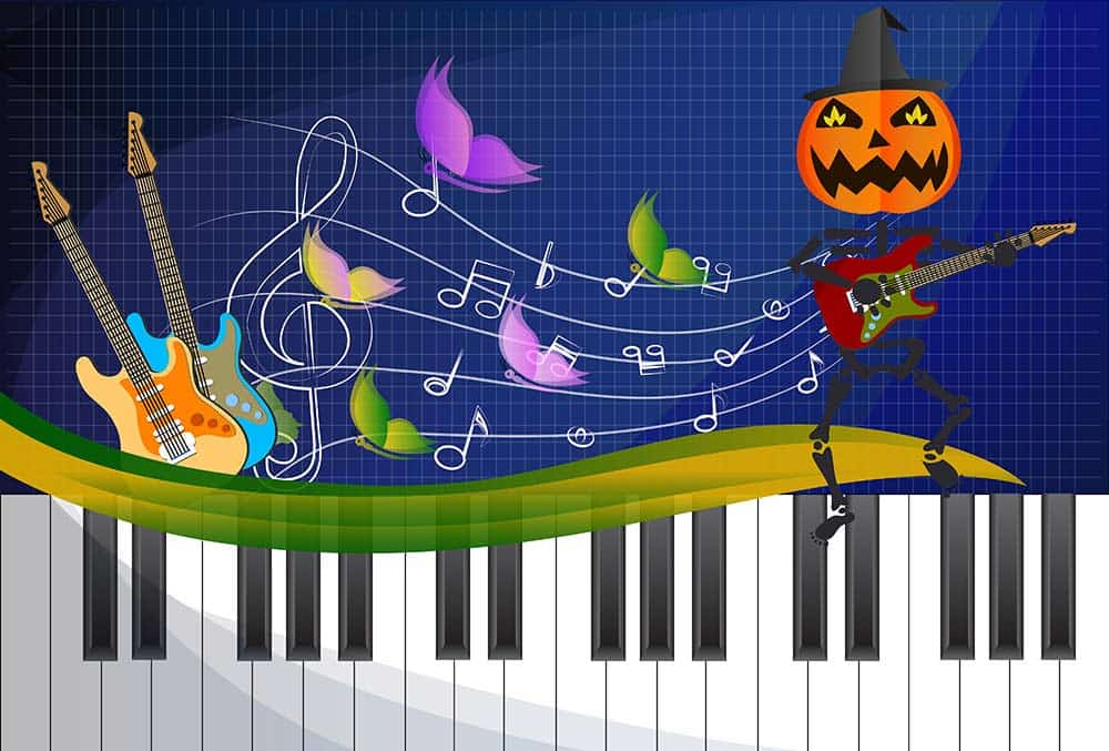 YouTube Halloween Music, pumpkin and Halloween keyboard