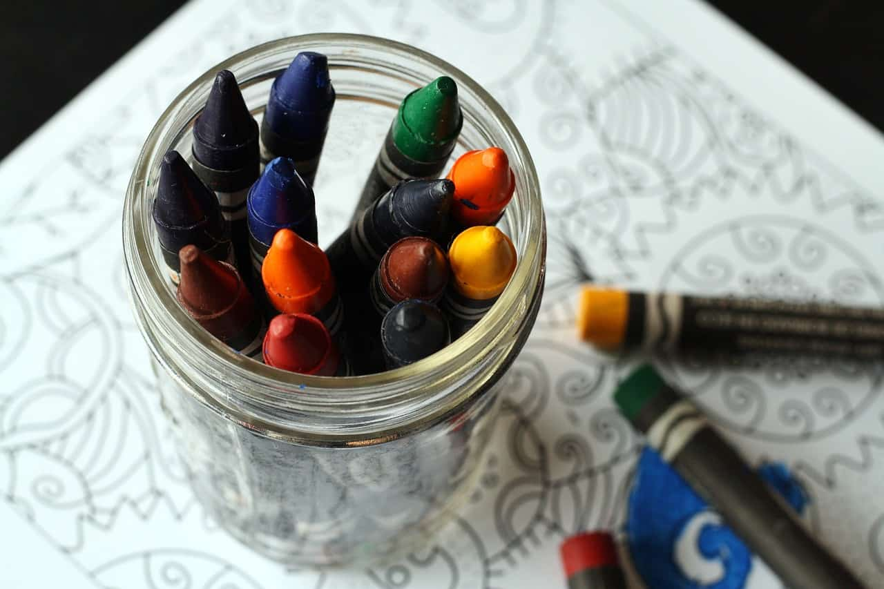 When coloring, crayons are needed and there are many different types. Again, coloring is a powerful way to relax