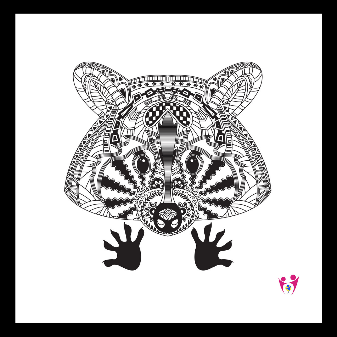 Zentangles are black and white doodles on a page. They utilize repeated patterns. Tangling and coloring are ways to relax your mind