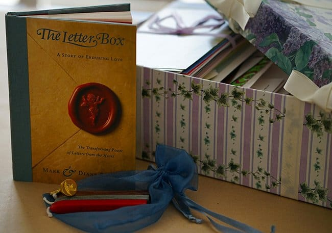 how to practice gratitude, letter box and book