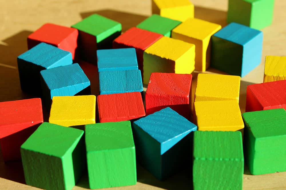brain building toys, colorful blocks