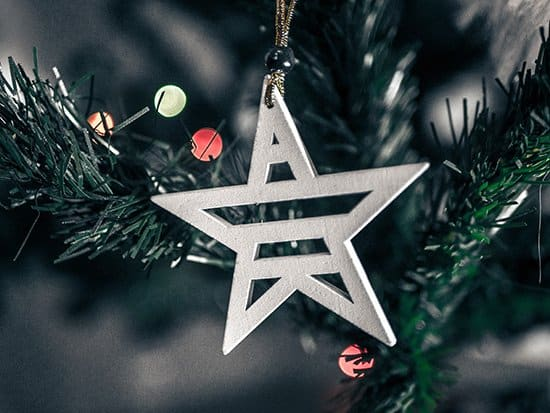 Christmas traditions, star on a Christmas tree