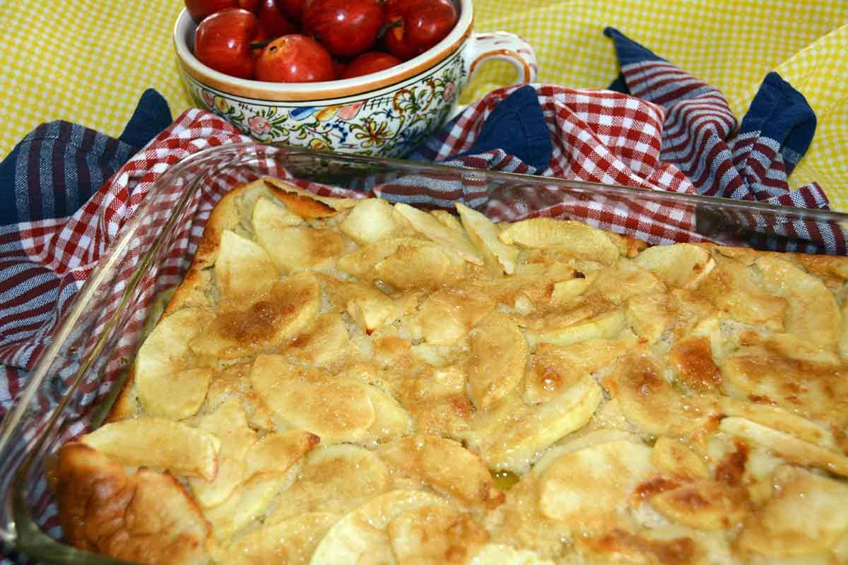 health benefits of eggs; an apple puff pancake full of eggs, egg for kids
