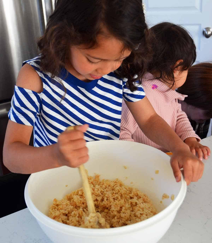 grandparents love making treats in the kitchen