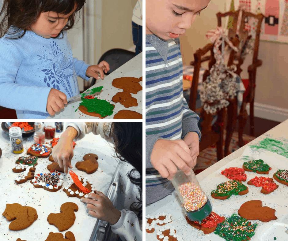 fun Christmas activities: making cookies